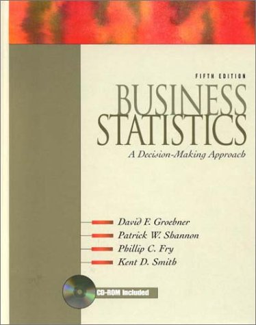 Business Statistics: A Decision-making Approach 5th Edition: Groebner, David F.; Shannon, Patrick W...