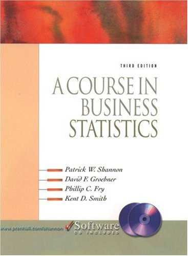 9780130936578: A Course in Business Statistics (With CD-ROM)
