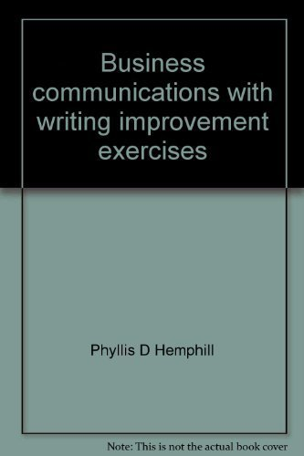 9780130937742: Business communications with writing improvement exercises