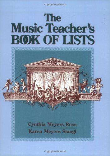 9780130938329: The Music Teacher's Book of Lists