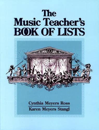 9780130938329: The Music Teacher's Book of Lists (J-B Ed: Book of Lists)