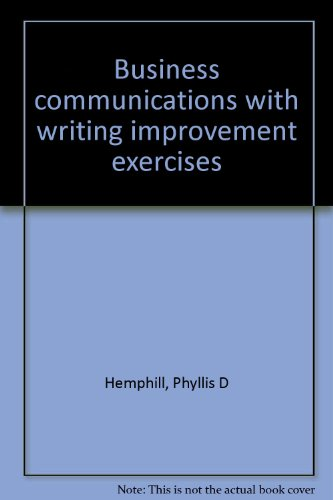 9780130938800: Business communications with writing improvement exercises