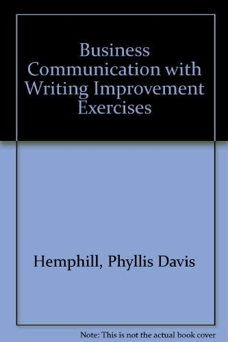 9780130938985: Business communications with writing improvement exercises