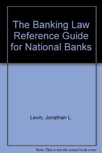 9780130939722: The Banking Law Reference Guide for National Banks