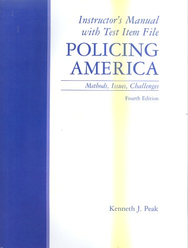 9780130940902: Instructor's Manual with Test Item File Policing America