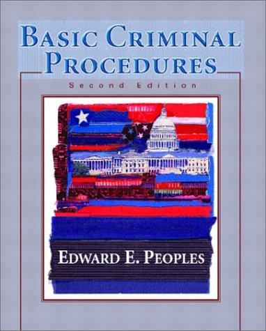 9780130940919: Basic Criminal Procedures (2nd Edition)