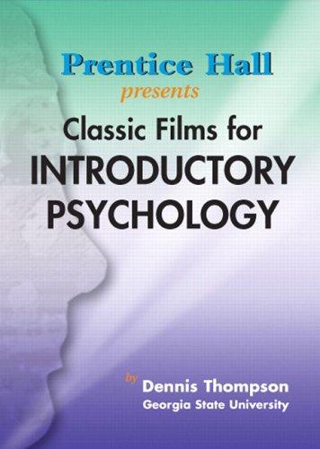 9780130946379: Classc Film in Intro Psychology DVD