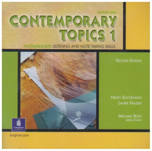 9780130948571: Contemporary Topics 1 Classroom Audio Program, Audio CDs: Intermediate Listening and Note-Taking Skills
