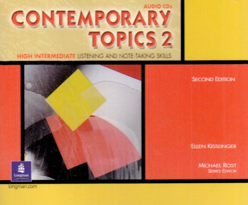 9780130948618: Contemporary Topics 2 Classroom Audio Program, Audio CDs: High Intermediate Listening and Note-Taking Skills