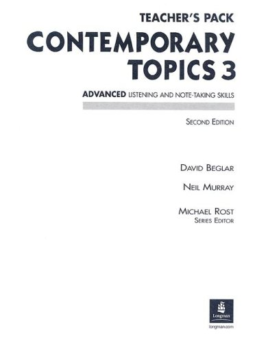 9780130948656: Contemporary Topics Teacher's Pack: Advanced Listening and Note-Taking Skills