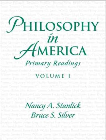 9780130950376: Philosophy in America, Volume 1