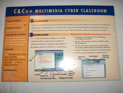 9780130954749: C and C++ Multimedia Cyber Classroom