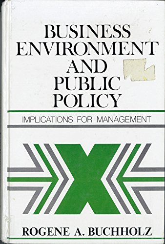 9780130955548: Business Environment and Public Policy: Implications for Management