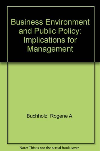 9780130955715: Business Environment and Public Policy: Implications for Management
