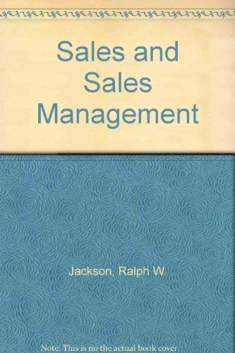 9780130956583: Sales and Sales Management