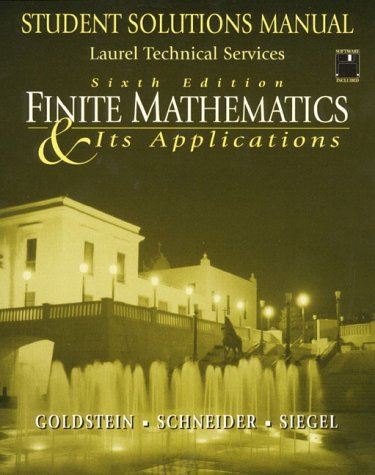 9780130957887: Finite Mathematics & Its Applications: Student Solution Manual