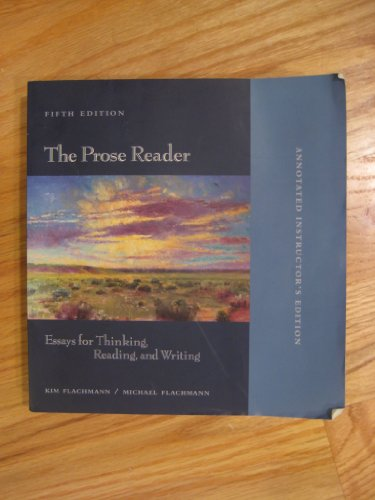 the prose reader essays for thinking reading and writing 10th edition The prose reader: essays for thinking, reading, and writing (7th edition) by michael flachmann, kim flachmann if you are searching for the ebook the prose reader: essays for thinking, reading, and writing (7th edition) by.