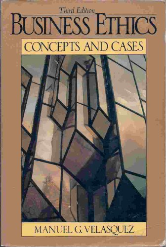 9780130960085: Business Ethics: Concepts and Cases