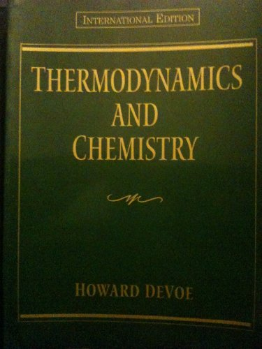 9780130961617: Thermodynamics and Chemistry