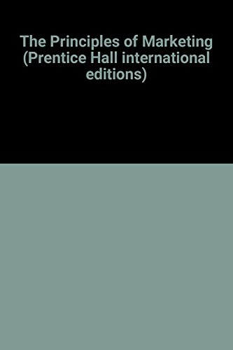 9780130961907: The Principles of Marketing (Prentice Hall international editions)