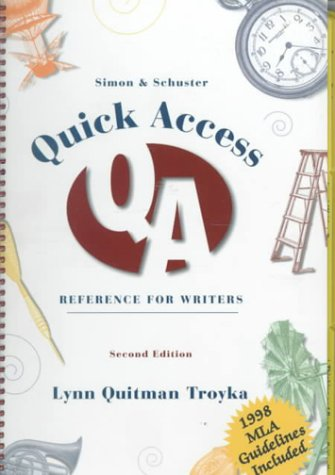9780130965967: Simon & Schuster Quick Access Reference for Writers (1998 MLA Update Edition)