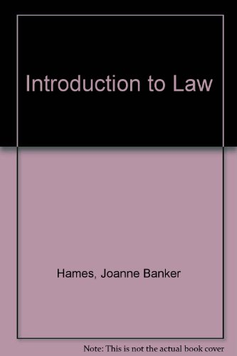9780130968630: Introduction to Law, Reprint
