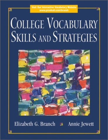 9780130971029: College Vocabulary Skills and Strategies