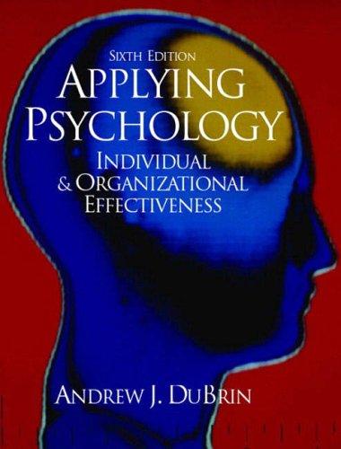 9780130971159: Applying Psychology