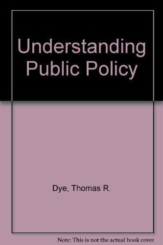 9780130974112: Understanding Public Policy 8yh edtion