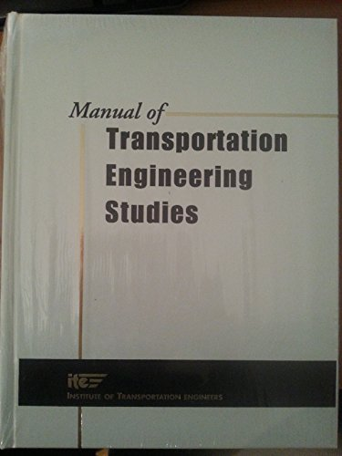 9780130975690: Manual of Transportation Engineering Studies