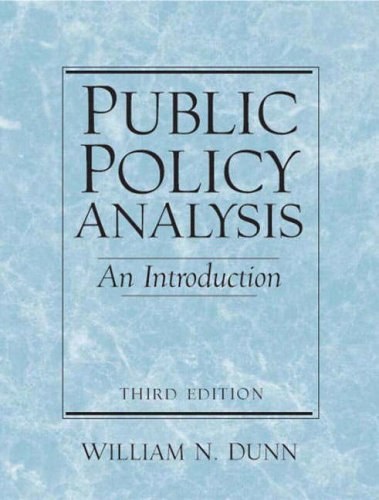 9780130976390: Public Policy Analysis: An Introduction