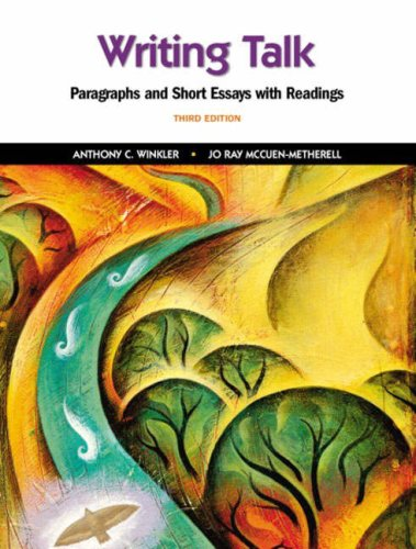 9780130978868: Writing Talk: Paragraphs and Short Essays with Readings (3rd Edition)