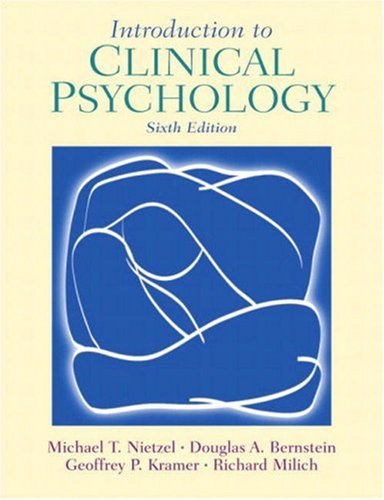 9780130980823: Introduction to Clinical Psychology (6th Edition)