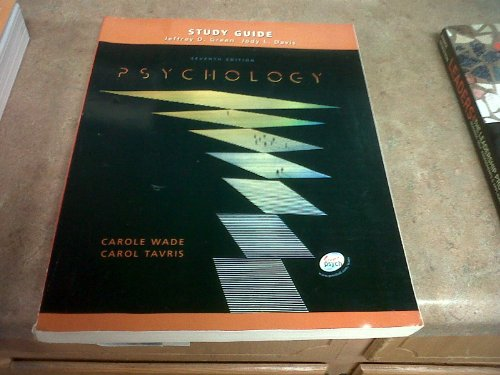9780130982643: Study Guide: Psychology Seventh Edition