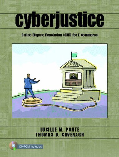 9780130986368: Cyberjustice: Online Dispute Resolution (ODR) for E-Commerce