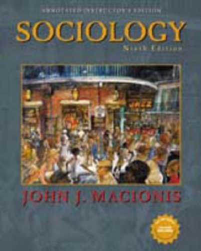 9780130988140: Sociology; Ninth Edition; Annotated Instructor's Edition