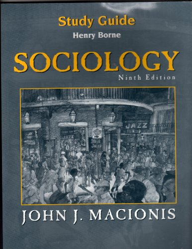 9780130988164: Sociology, 9th edition (Study Guide)