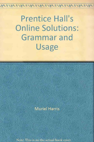 9780130988621: Prentice Hall's Online Solutions: Grammar and Usage