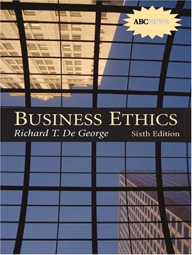 9780130991638: Business Ethics with CD-ROM (6th Edition)