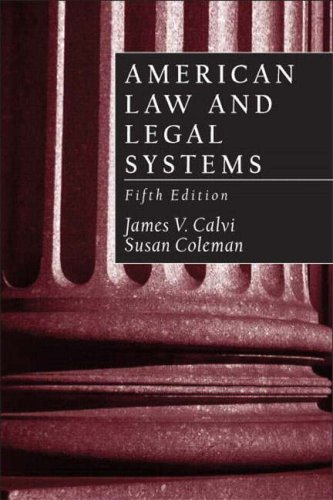 9780130993113: American Law and Legal Systems (5th Edition)