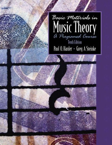 9780130993335: Basic Materials in Music Theory: A Programmed Course