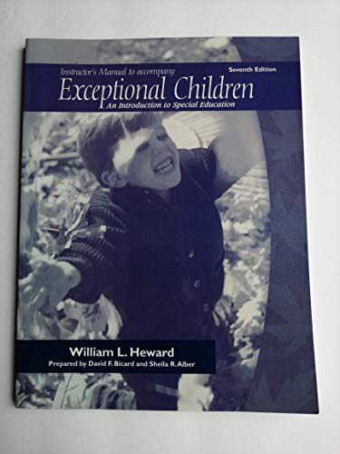 9780130994035: Instructor's Manual to Accompany Exceptional Children