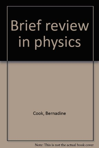 9780130994332: Brief review in physics
