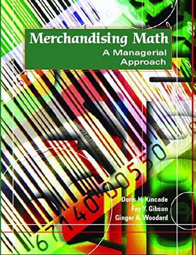 9780130995889: Merchandising Math: A Managerial Approach