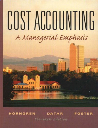 9780130996190: Cost Accounting: A Managerial Emphasis