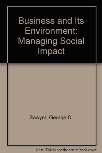 9780131009189: Business and Its Environment: Managing Social Impact