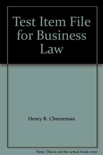 9780131010215: Test Item File for Business Law