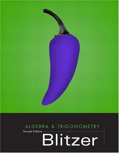 9780131013599: Algebra and Trigonometry, Second Edition