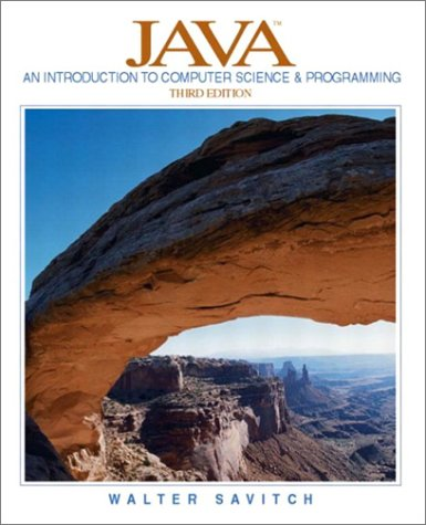 9780131013780: Java: An Introduction to Computer Science and Programming, Third Edition