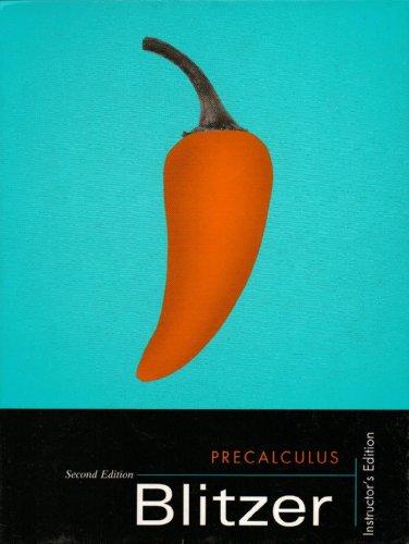 9780131014756: Precalculus - Blitzer - Hardcover Edition: second
